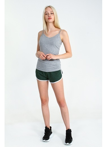 Collezione Grimelanj V Yaka Basic Kadın Atlet Gri